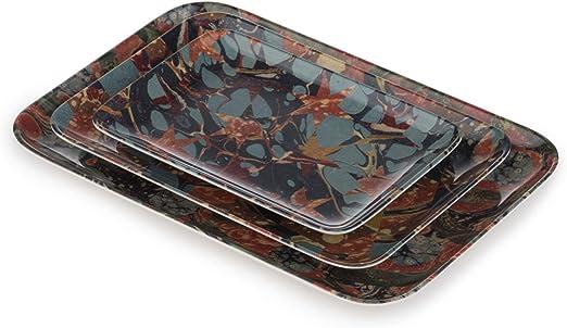 Amazon Com Thomas Paul Studiolo 6 5 X9 5 S 3 Melamine Tray Set Multi Serving Trays