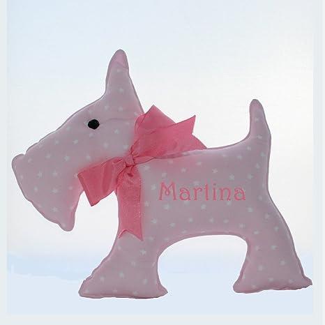 Cojín perro confeccionado en pique y personalizado con ...