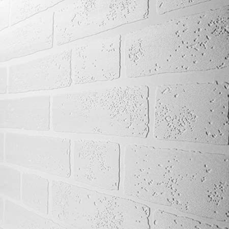 Paintable White Brick Effect Wallpaper (ILW980009)