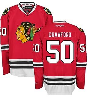 546c407b0 Corey Crawford Chicago Blackhawks Home Red Premier Jersey by Reebok