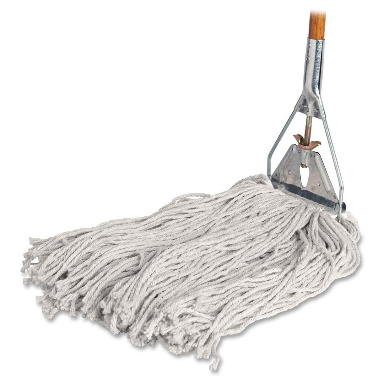 Amazon Com Genuine Joe Gjo54201 Cotton Wet Mop With Handle 60 Width X 0 94 Height Cotton Headwood Handle Lightweight Industrial Scientific