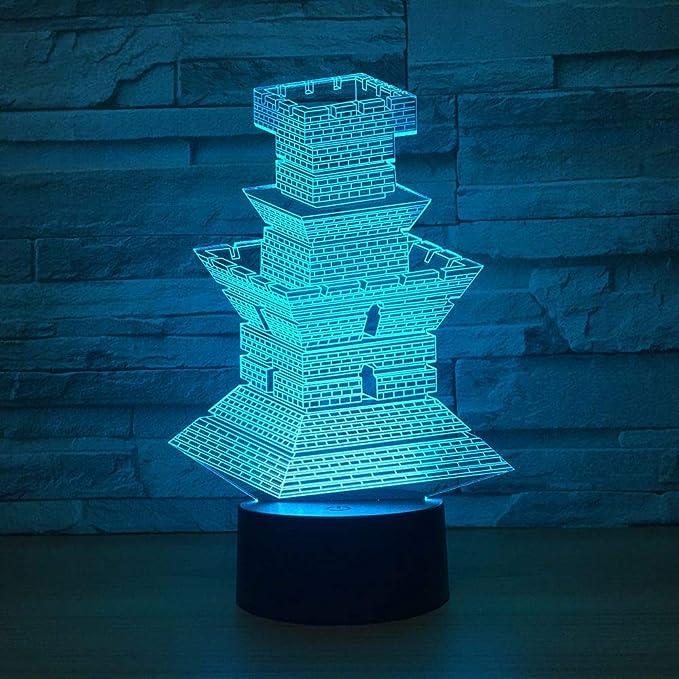 KangYD Faro 3D Lámpara, Luz de noche LED, Decoración ...