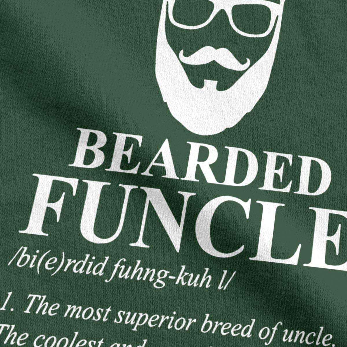 PRINTER77 Funcle Sarcastic Funny T Shirt Bearded Fun Uncle Mens Tops Tees