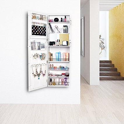 Amazoncom Bonnlo 53 L 18 W Jewelry Armoire Mirror Cabinet Wall