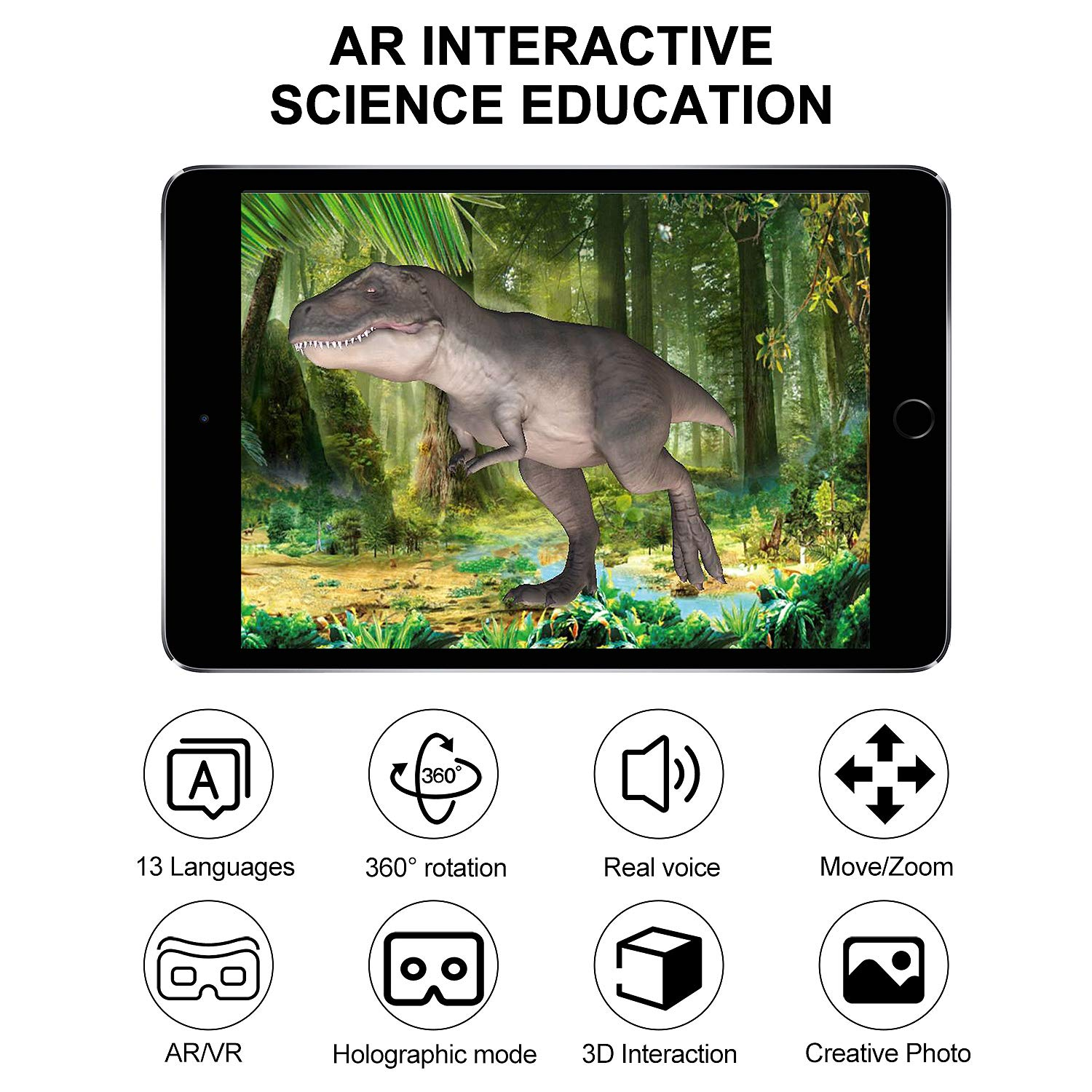 Tyrannosaurus Karaqy Dinosaur 4D Review Fossil Archaeology Dig Kit Dinosaur Skeleton Revive by Scanning with Free App Compatible with Android and iOS System