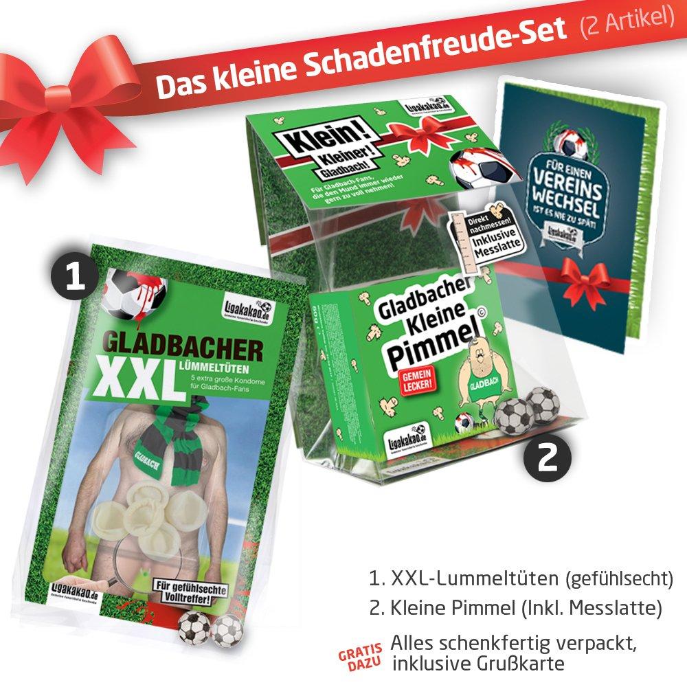 inklusive Messlatte zum Lachen /& Vergleichen by Ligakakao.de F/ür mehr Spa/ß in der Liga! Gladbacher Kleine Pimmel Echt gemein leckere Fruchtgummi f/ür Borussia-Fans