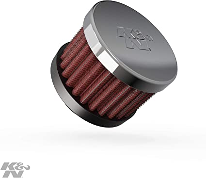 Tall K/&N 62-1360 Crankcase Vent Air Filter 2 in 1.5 in OD