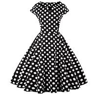 Fairy Couple 1950s Retro Rockabilly Pois Tappi Huelsen stipulazione ball vestito drt019