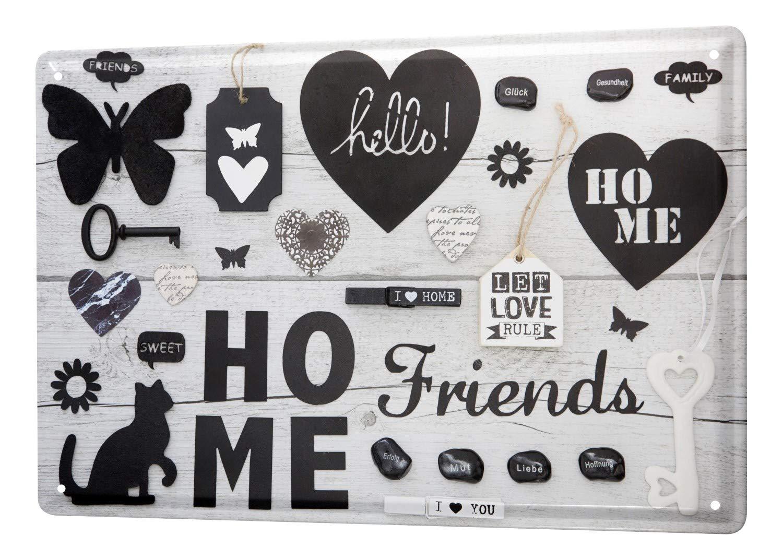 Amazon com: Tin Sign XXL Fun Home friends: Home Improvement