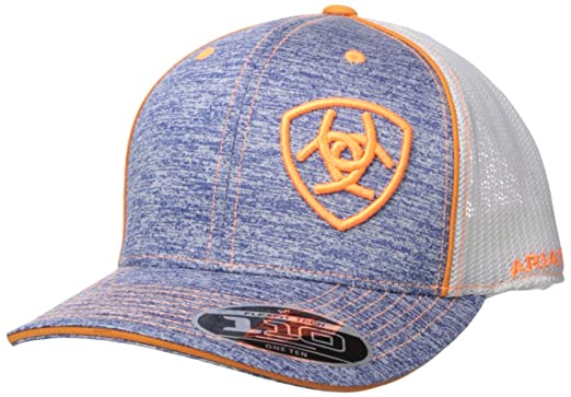 fd4110a5 Ariat Men's Heather Mesh 110 Back Hat, Blue, One Size at Amazon ...
