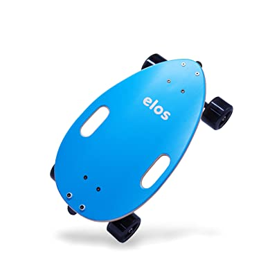 Elos Skateboard Complete Lightweight - Mini Longboard Cruiser Skateboard Built for Beginners and Urban commuters. Wide and Stable Skateboard Deck. Non-Electric. Campus Board. (Elos Blue) : Sports & Outdoors
