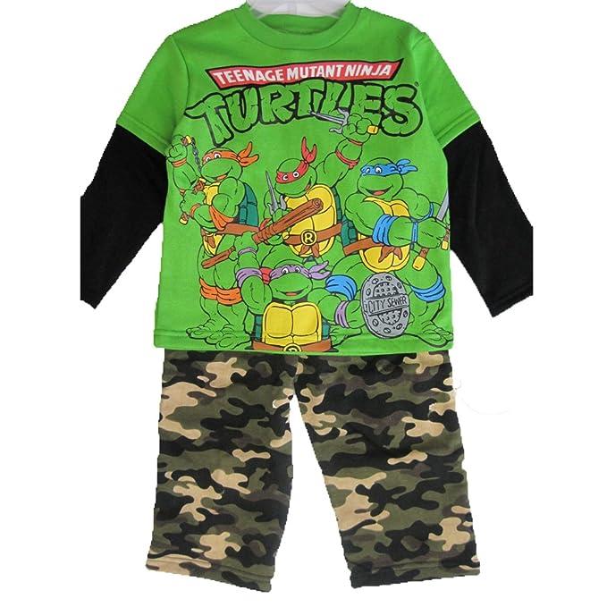 Amazon.com: Nickelodeon Little Boys Green Ninja Turtles ...
