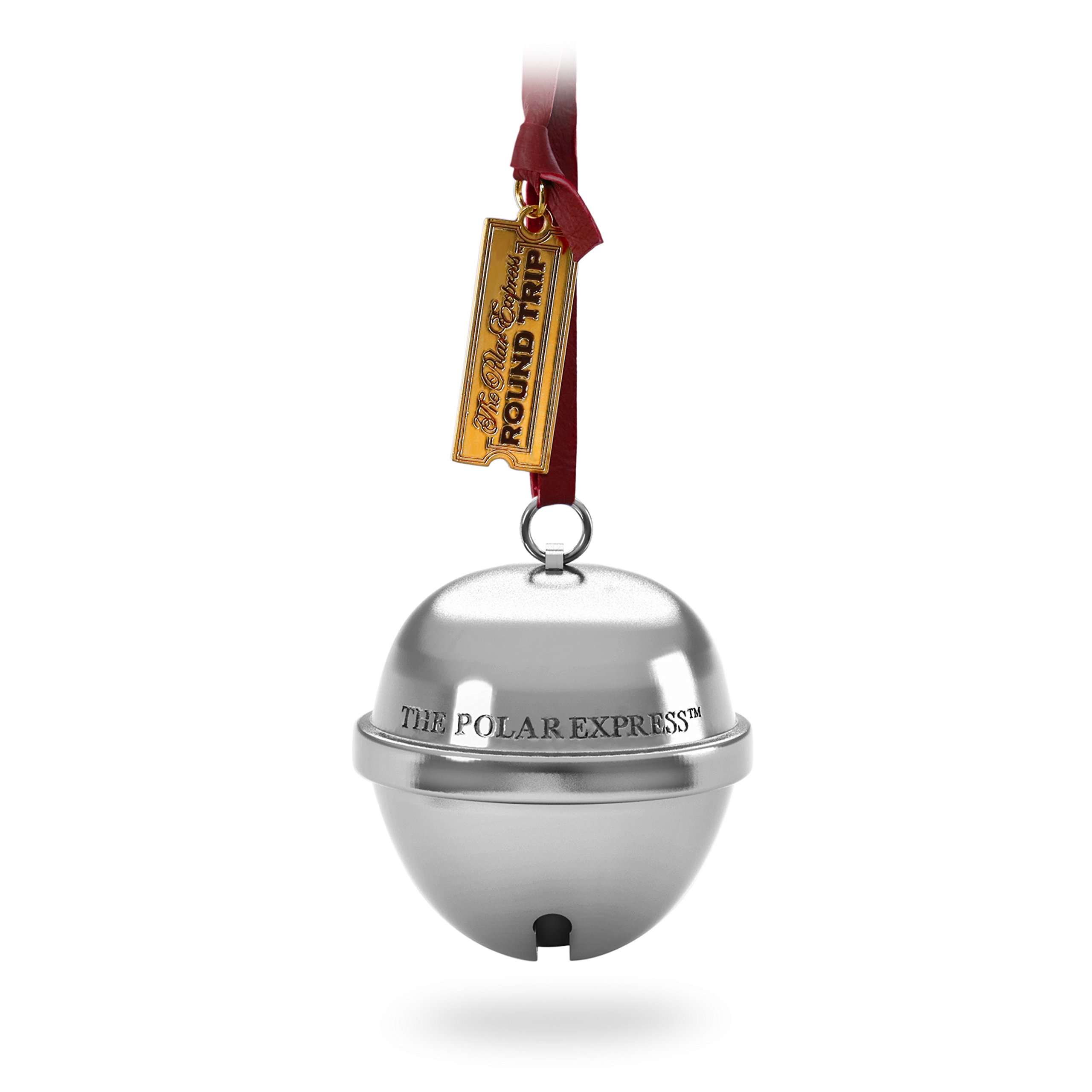 Hallmark Christmas Ornament Keepsake 2018 Year Dated, the Polar Express Bell the First Gift Sound