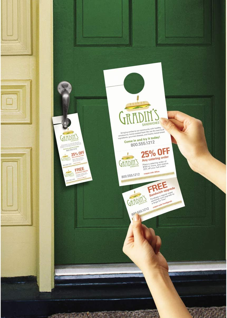 Avery Door Hanger w//Cards 80//cards,WE 40// 4-1//4x11 Printable