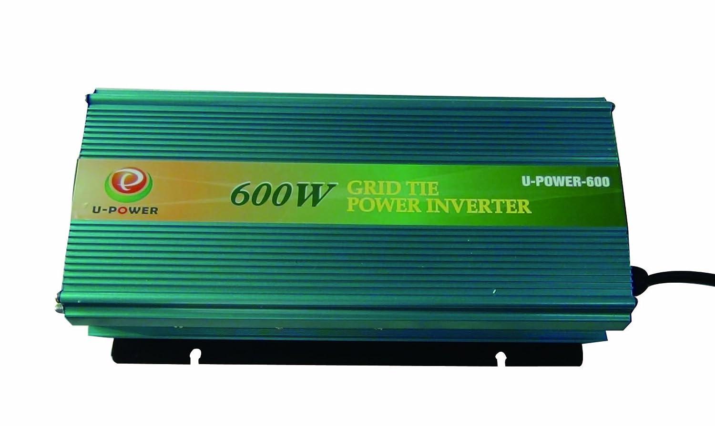 UK Stock~No Tax To EU!!!600 Watt Micro Grid Tie Power Inverter 28 V-48 V Dc Input / 190 V-260 V Ac Output Charge for 24 V(36 V VMP) Solar Panel System With MPPT function U-POWER GTW-600W   28V-48VDC/190V-260VAC