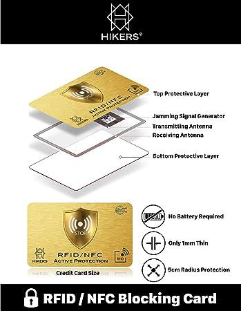 Tarjeta Anti RFID/NFC Protector de Tarjetas de crédito sin ...