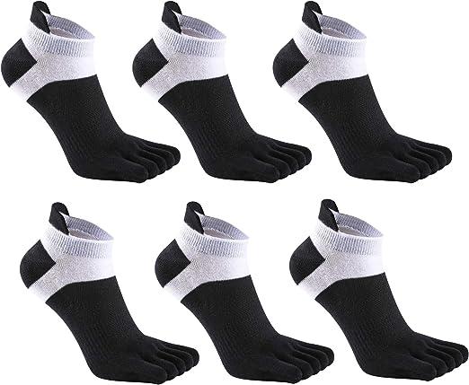 3 Pairs Mens Five Toe Short Socks Comfortable Black Socks Made In Korea V/_e