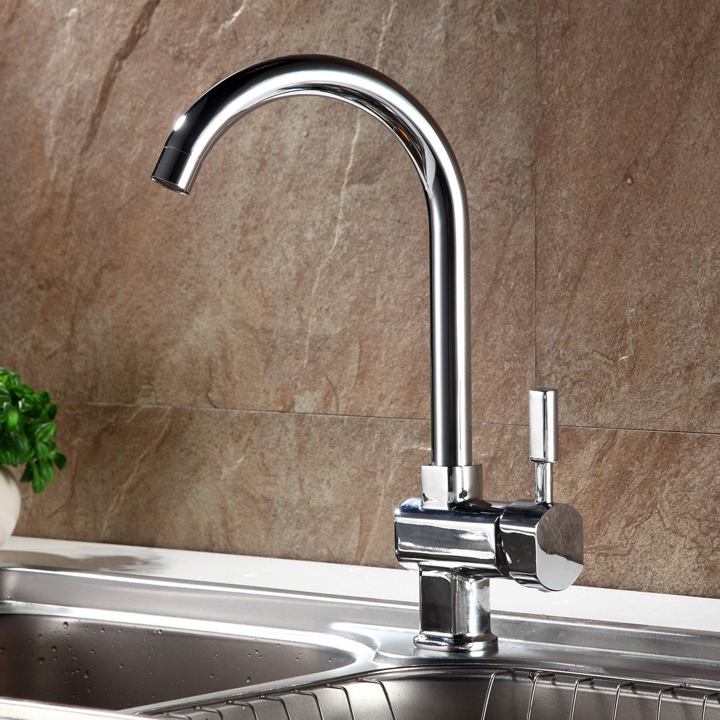 Auralum® Chrom Mischbatterie Küchenarmatur Wasserhahn Armatur ...