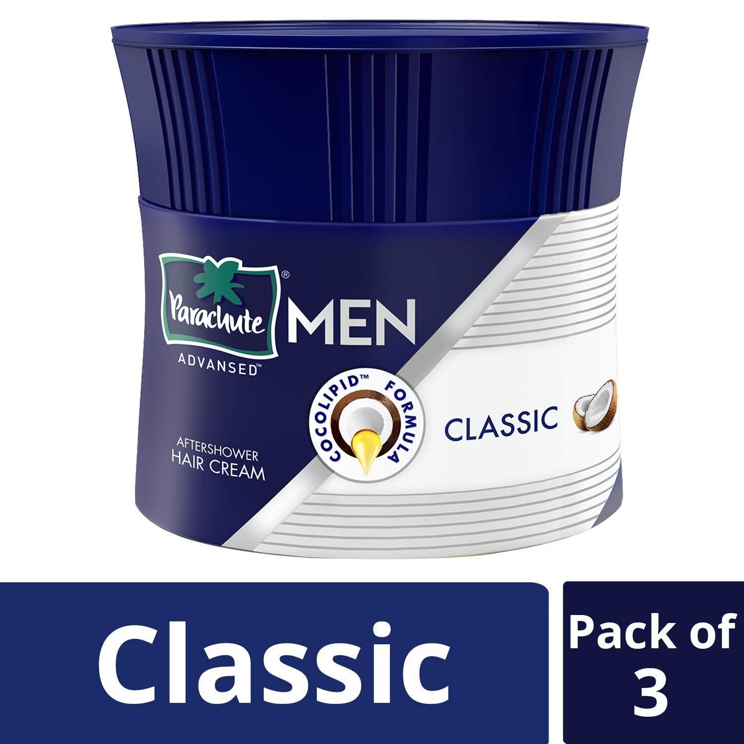 Parachute Advansed Men Hair Cream, Classic, 100 gm (Pack of 3)
