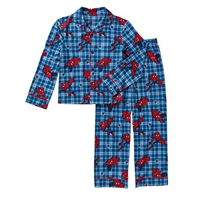 Spiderman Little Boys' Coat Pajamas Set
