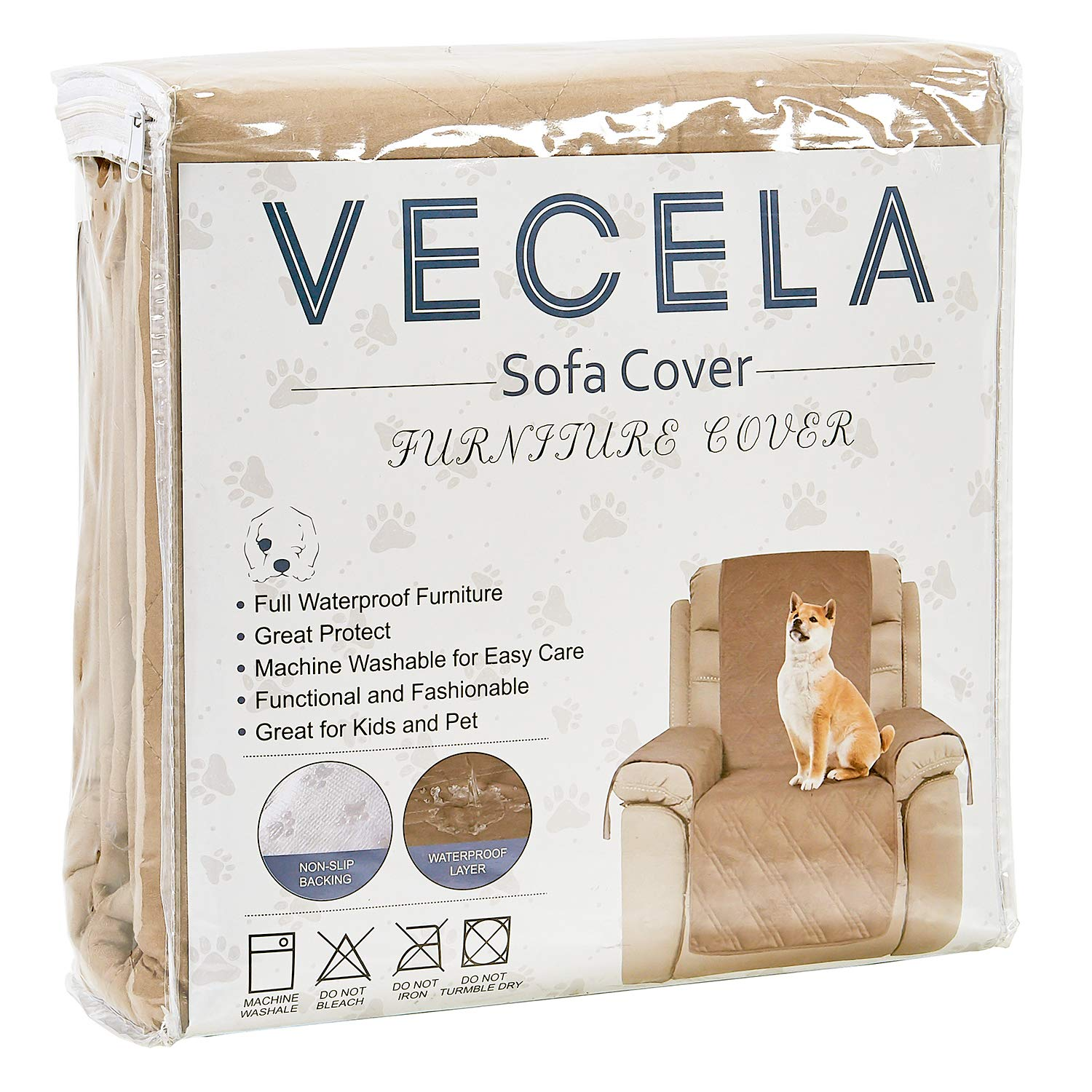 Great for Dogs VECELA Pet Sofa Cover Loveseat 100/% Waterproof Furniture Protector Cover Slipcovers Stay in Place Non-Slip Stain Resistant Pets and Kids