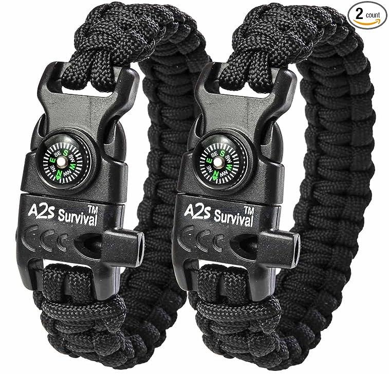 A2S Survival Paracord Bracelet