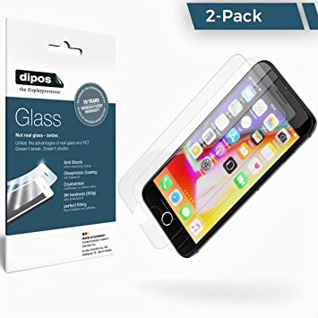 2-Pack Dipos Apple iPhone 6 / 6S Protector de Pantalla Vidrio Flexible Cristal Proteccion 9H: Amazon.es: Electrónica