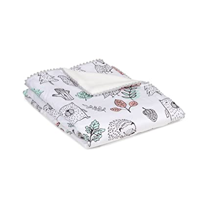 d19569cd5cf20 Lolli Living Baby Blanket with Sherpa. Kayden Printed Ultra-Soft Throw  Blanket for Cribs
