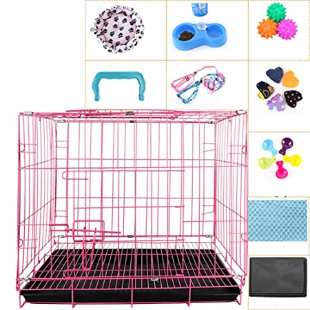 QNMM Jaula para Mascotas Jaula para Gatos Jaula para Perros Perro ...