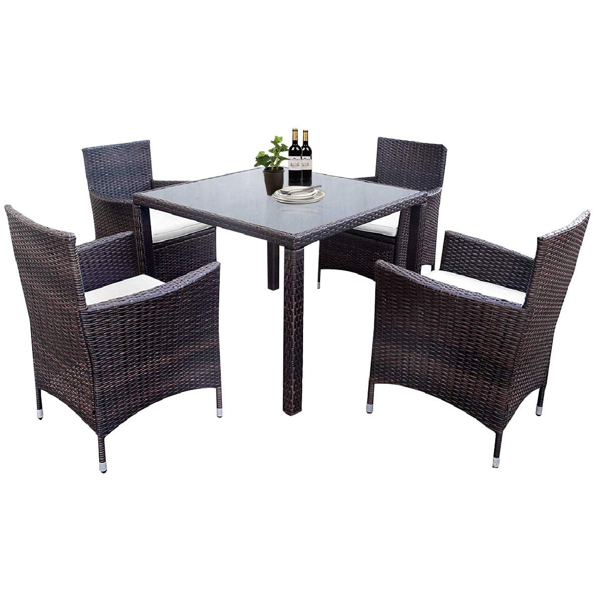Budget Patio Dining Set: CHEAP LZ LEISURE ZONE 5 Pieces Patio Dining Set Outdoor