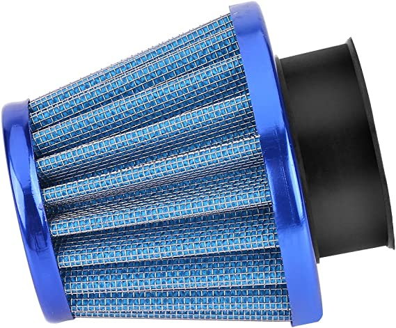 Blue 38mm Motorcycle Air Intake Filter Kit Universal Moto Clamp-On Auto Air Filter for Scooter Off-Road Motorcycle ATV Quad Dirt Pit Bike