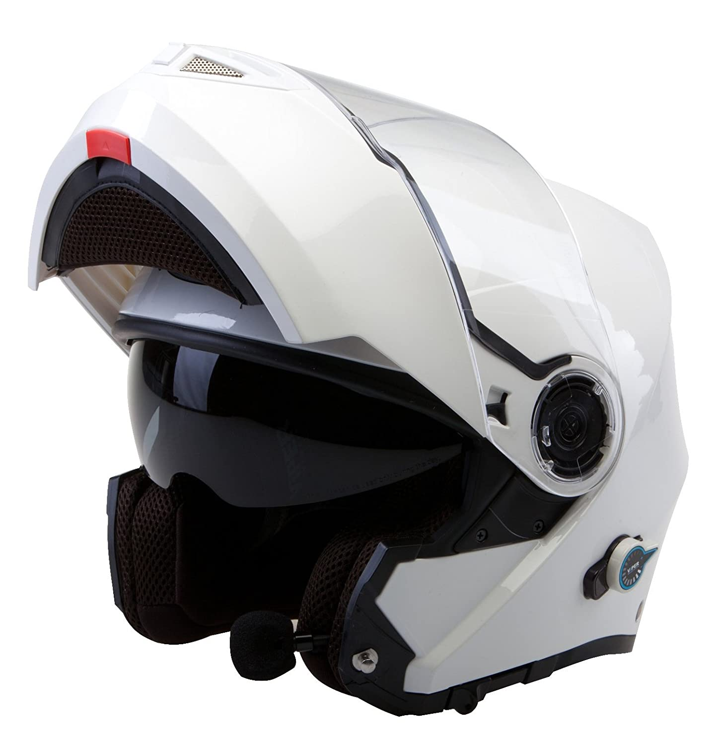 Viper RS-V151 Bluetooth 2.0 Flip up Motorbike Helmet Yellow S Free Alarm Disc Lock with 1.5M Reminder Cable