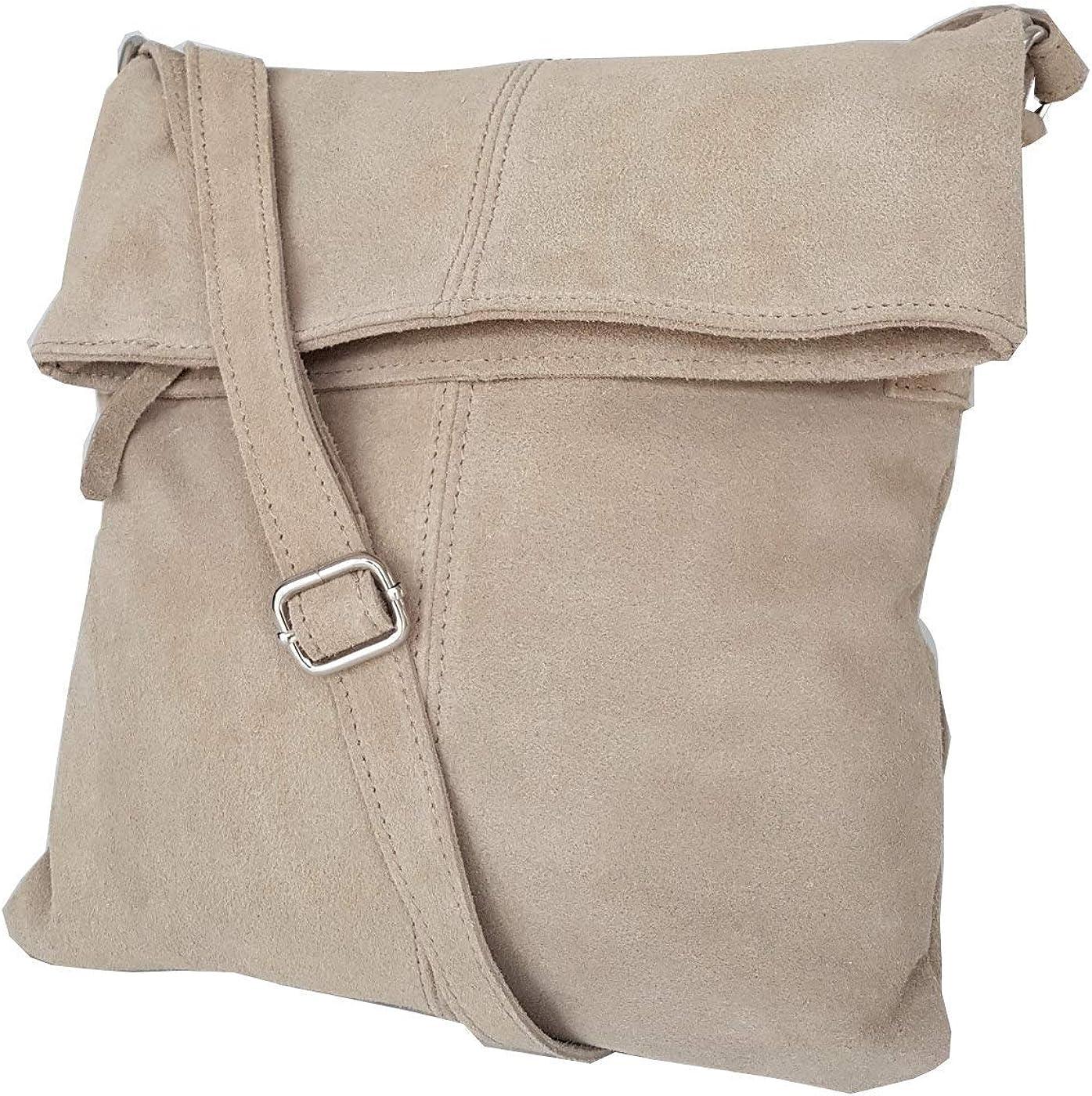 fashion-formel Cuir sac /à bandouli/ère Messenger daim mod 2030-p