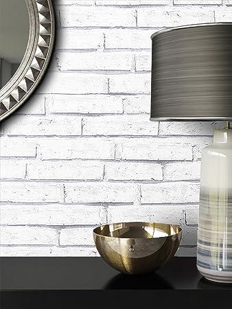 Steintapete Weiß Natur Stein | Schöne Edle Tapete Im Steinmauer Design |  Moderne 3D Optik Für
