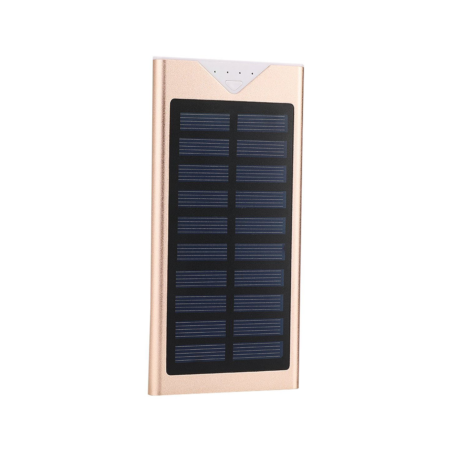 Solar Charger,Electric Camel 10800mAh Portable Solar Power Bank Dual USB LED Battery Charger for Outdoor iPhone,Samsung,Android phones,GoPro Camera,GPS and More (Champagne gold)