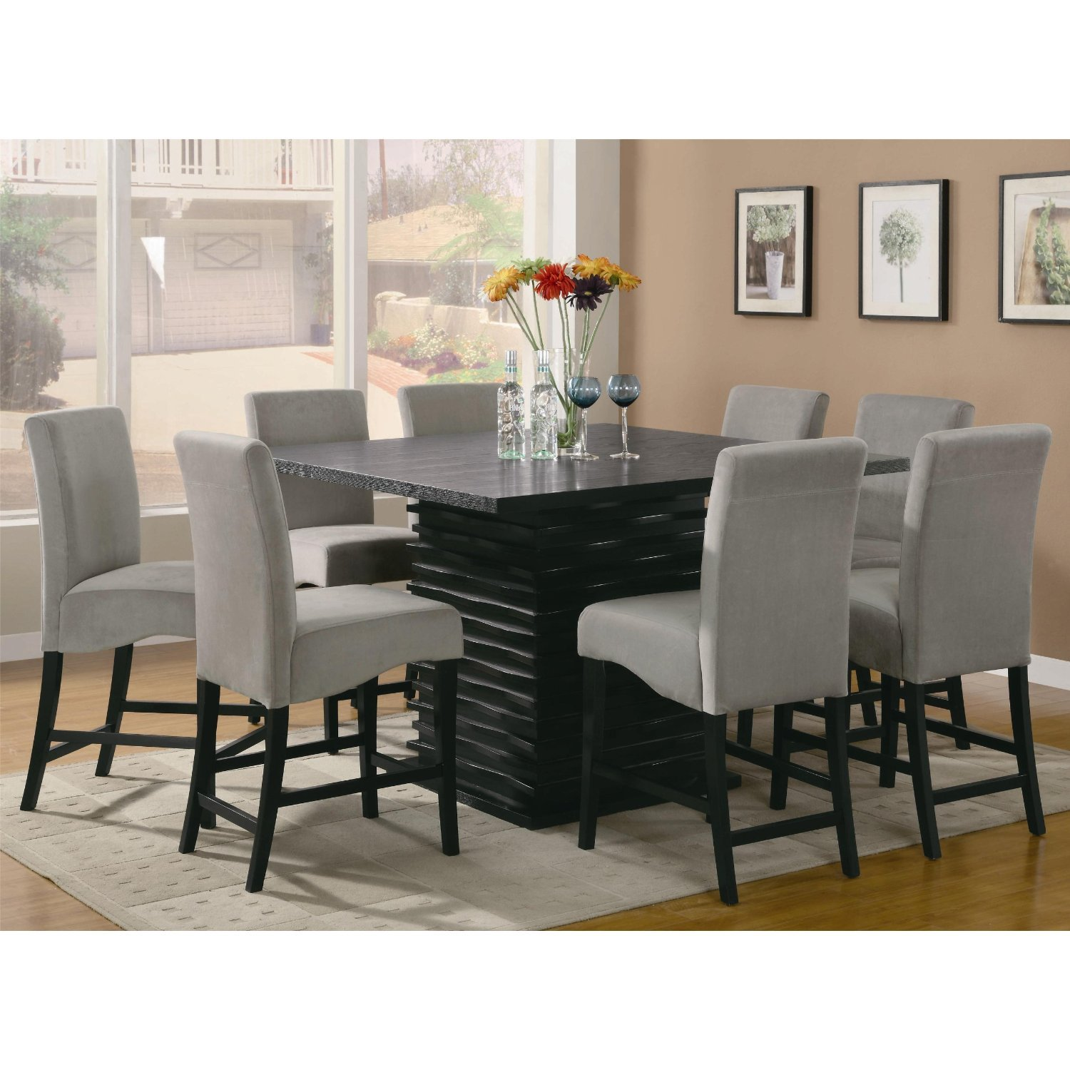 most gallery sets grey from dining gray chairs with rectangular table extendable chadoni