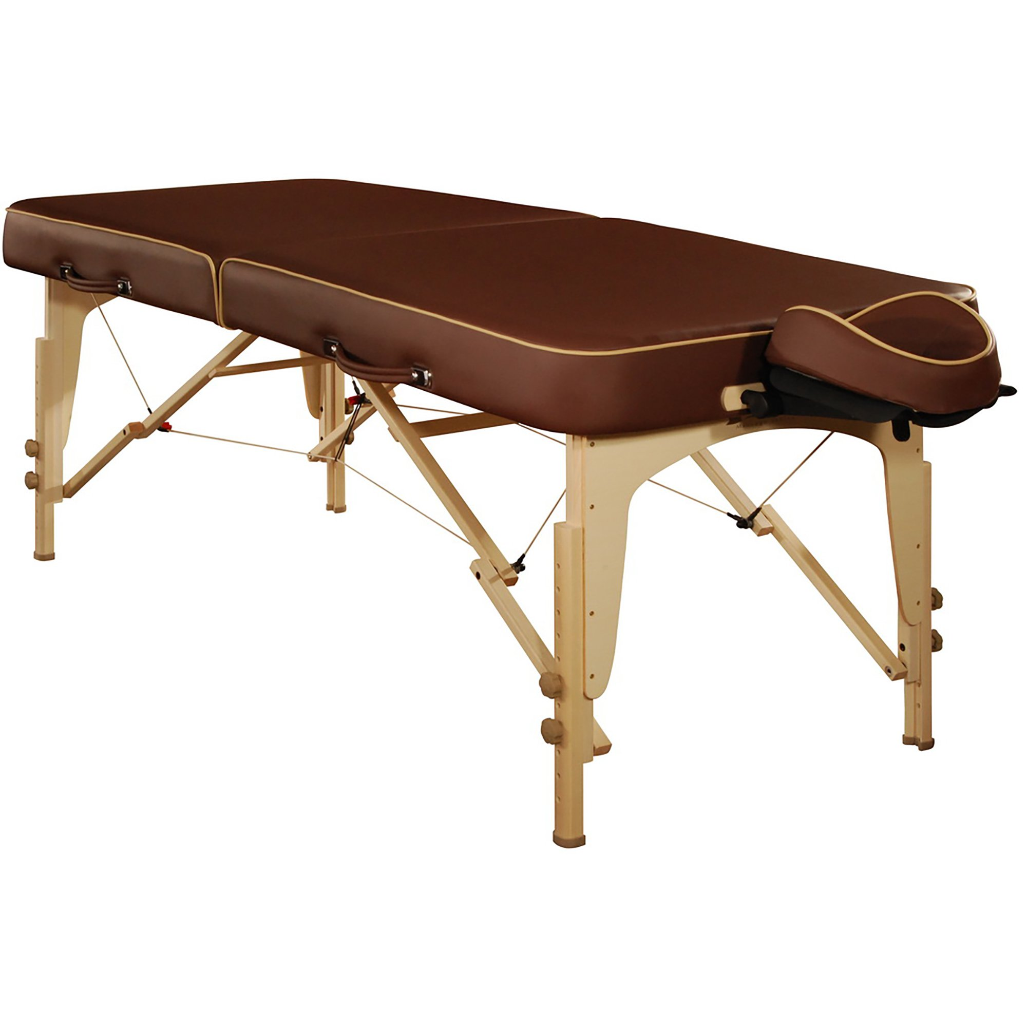 Mt Massage Lotus 30'' Professional Portable Massage Table Package with Reiki Panel(Chocolate)