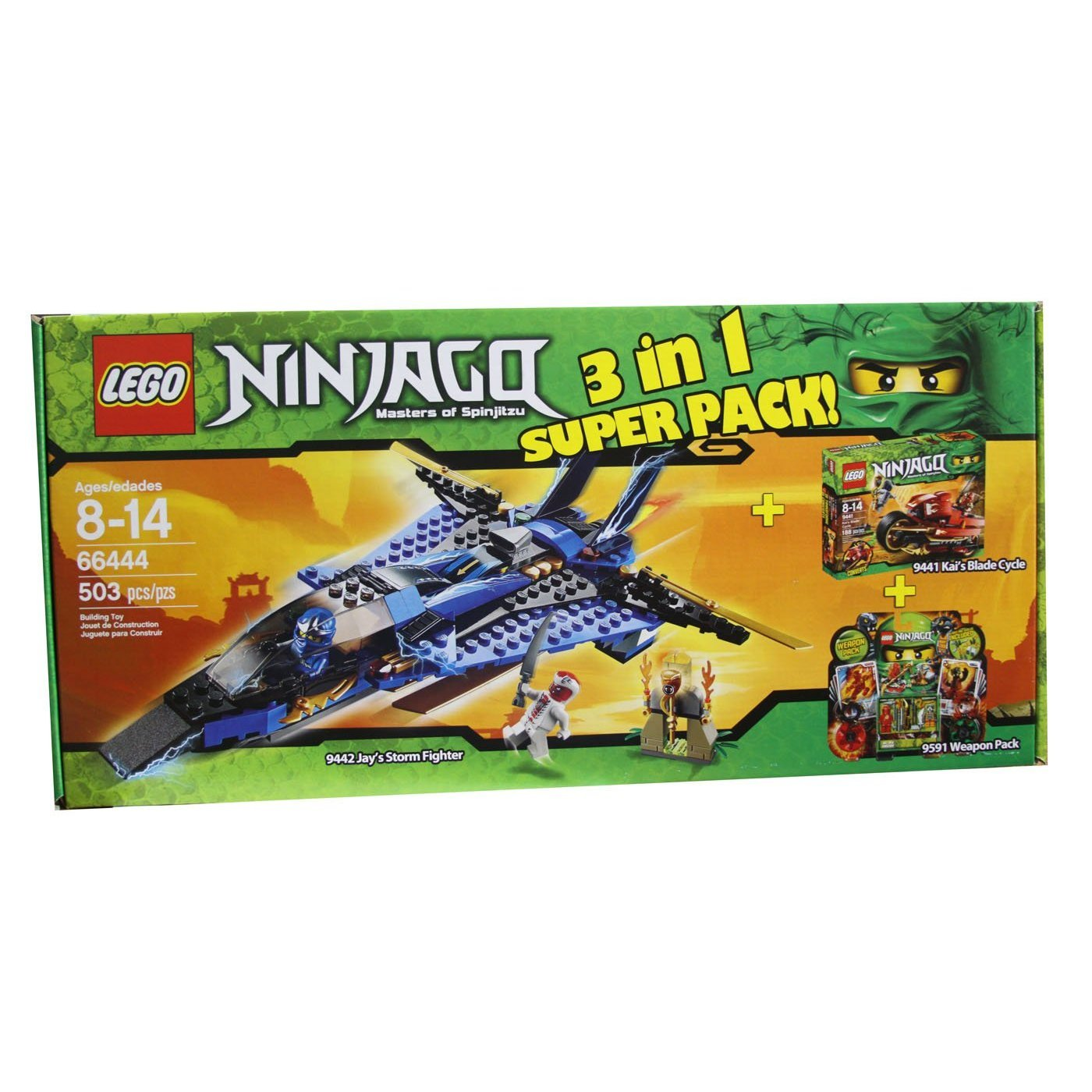 Lego Ninjago 66444 Masters of Spinjitzu 7.6cm 1 Super Pack contains 9442, 9441 and 9591
