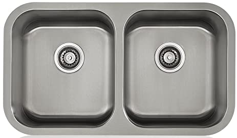 Lenova LD16611 Aapogee Stainless Steel Double Bowl Under-Mount ...