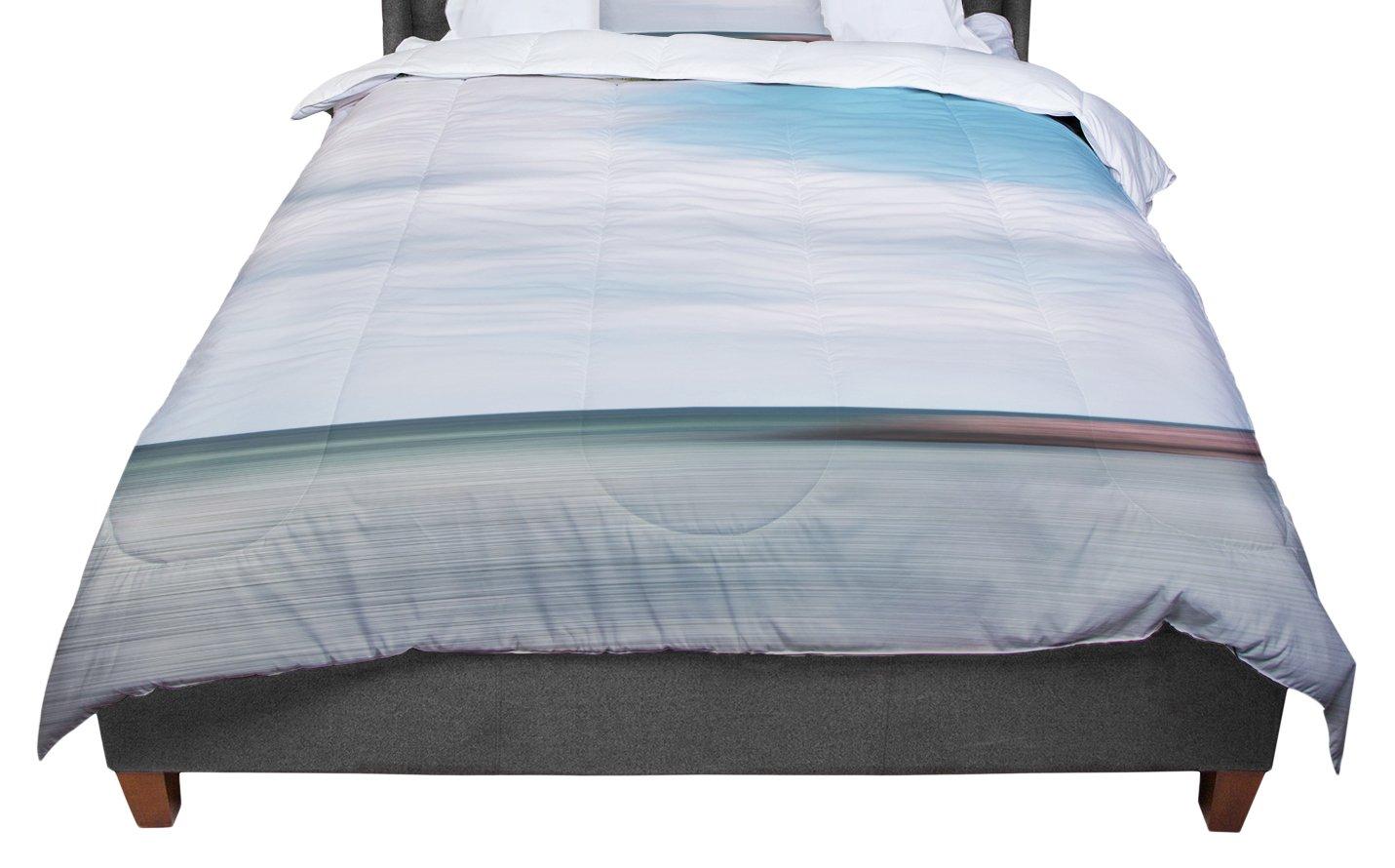 KESS InHouse Iris Lehnhardt 'June Beach' Gray Blue Twin Comforter, 68' X 88'