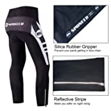 sponeed Cycling Pants Men Stretchy Bicycle Trousers Quick Drying Road Bike Tights Cyclist Clothing Bottoms Moisture Wicking US L White