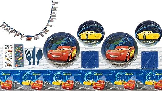 Cars 3 Deluxe Suministros de Fiesta de cumpleaños para 16 ...