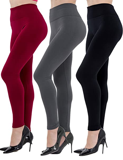 top-rated quality high quality terrific value Dimore Womens Fleece Lined Leggings High Waist-Stretch Leggings Pants Thick  Tights