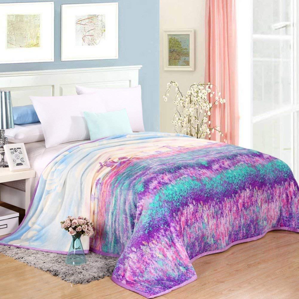 Yunyilian ベッドの裏地の冬の厚くされたフランネルの綿毛布、暖かい単一の二重タオルのキルト毛布 (Color : 230x250cm(91x98inch), サイズ : K) B07SQLZQPF
