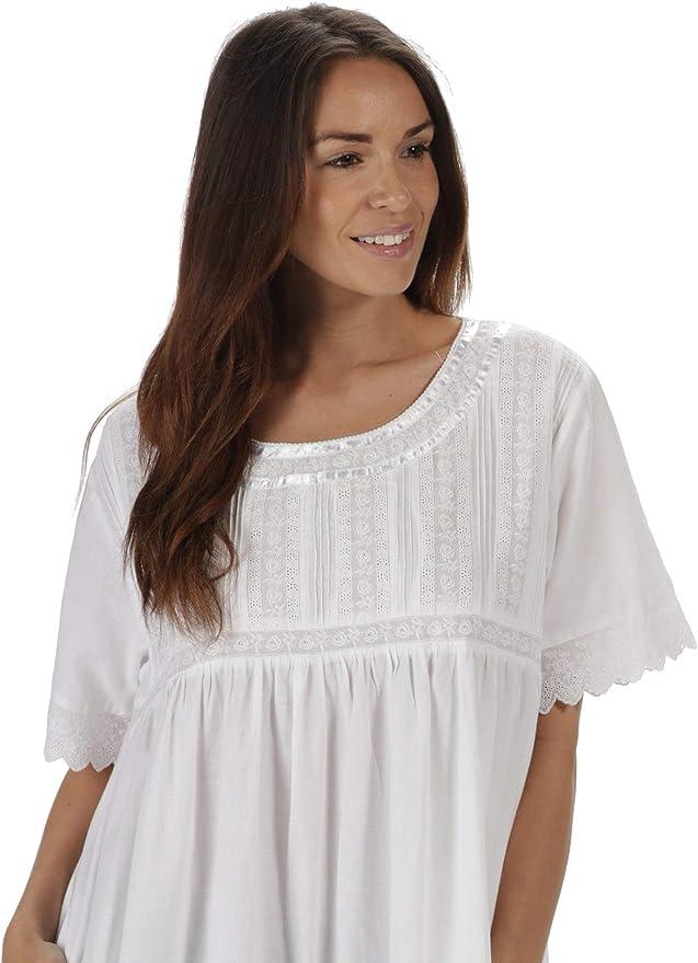 Waites à manches courtes chemise de nuit coton doux ~ LAST Tailles ~ XL 18//20 moitié prix