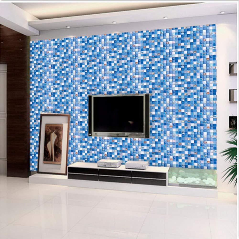 Moderne Non Tissé Peintures Murales Mosaïque De Cristal Bleu