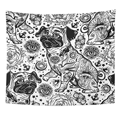 Amazon Com Emvency Decor Wall Tapestry Oldschool Vintage