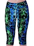 Womens Tartan Active Workout Capri Leggings Outfit Stretch Tights
