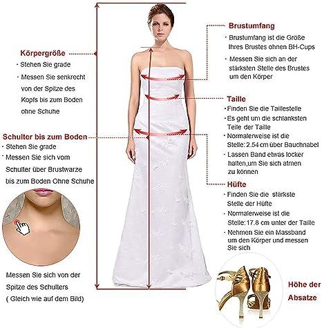 JAEDEN Ballkleider Hochzeitskleider Kurz Partykleider Brautjungfern Damska Tüll Schulterfrei: Odzież