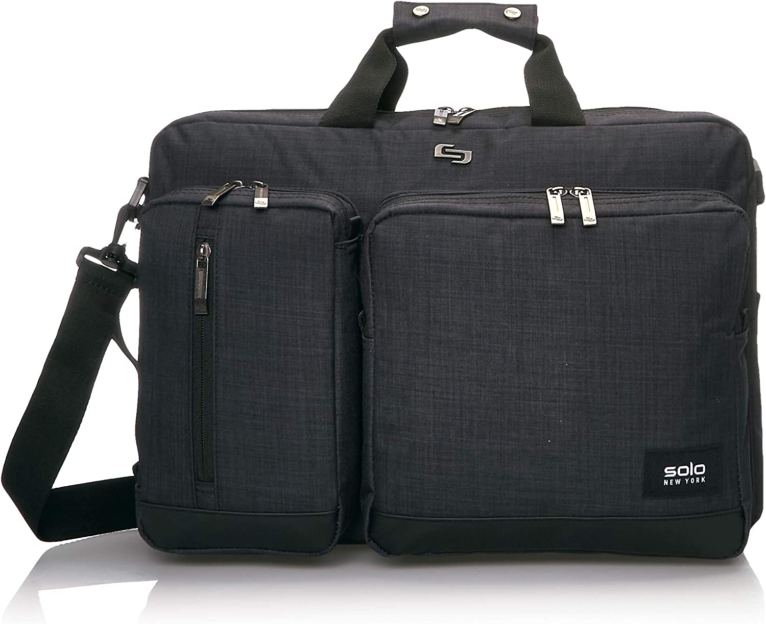 Solo New York Duane 15.6 Inch Laptop Hybrid Briefcase Backpack, Indigo, One Size